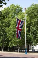 Flagpole with british flag