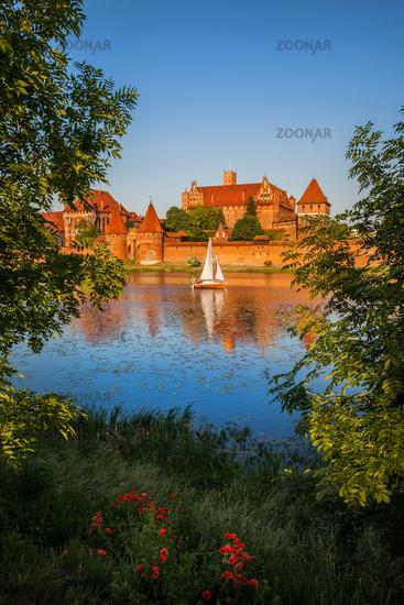 Malbork Castle at Sunset in Poland