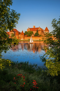 Malbork Castle at Sunset in Poland