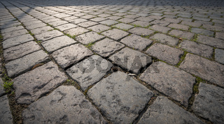 Cobble stone pavement background