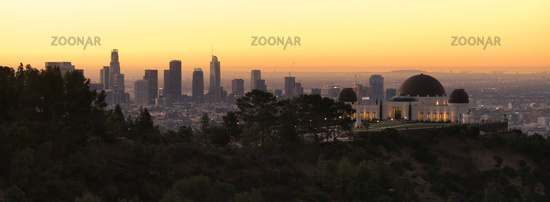 Beautiful Light Los Angeles California Downtown City Skyline Urban Metropolis
