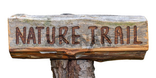 Rustic Wooden Nature Trail Sign
