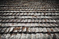 old and wooden shingles for creative background