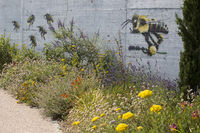 wall painting with bees