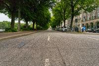 Leere Straße in Hamburg