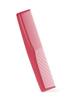 Red plastic comb