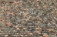 old clay roof shindles