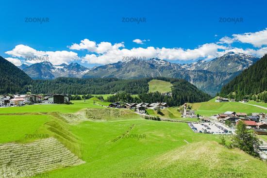 The beautiful village Niederthai, Ötztal, Osttirol