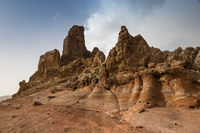 Roques de Garcia, a Rock Formation in Teide National Park, Tenerife, Spain
