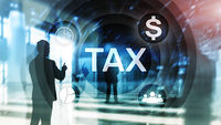 Tax Digarams, Business and Financial concept on blurred background.