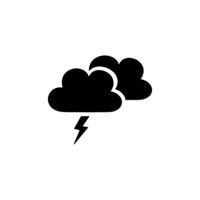 Storm and clouds. Isolated icon. Weather vector illustration