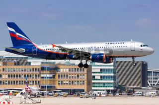 Aeroflot Airbus A320 airplane Stuttgart airport