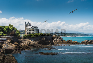 Typical house of the city of Biarritz on the Atlantic coast