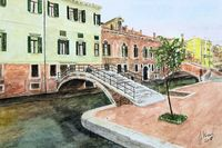 Venice, silent conner with typical bridges