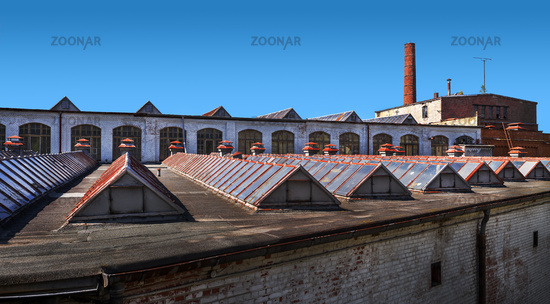 The roofs of the old factory