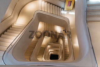 Staircase of Caixaforum building in Madrid