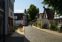 Old streets of the seaside resort and a district of the city of Rostock.