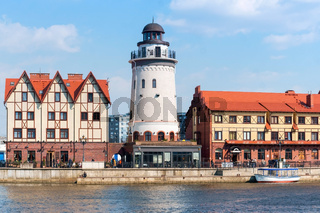 Fish village-ethnographic and trade and craft center, the architecture of the Fishing Village in Kaliningrad