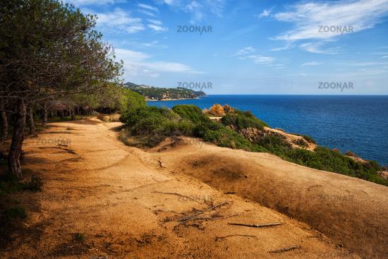 Footpath on Sea Clifftop in Lloret de Mar