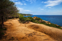 Footpath on Sea Clifftop in Lloret de Mar