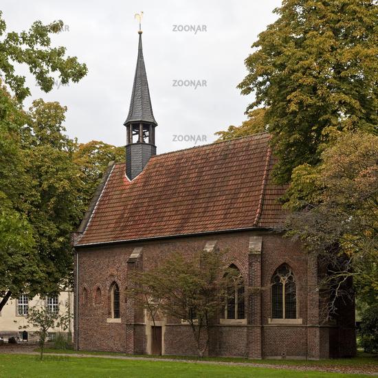 Castle Chapel Struenkede, Herne, Ruhr Area, North Rhine-Westphalia, Germany, Europe