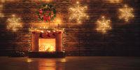 3D Rendering Christmas interior