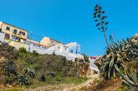 Houses in Peniche. Portugal
