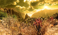 Scenery valley in Spain.Nature landscape.Travel adventures and outdoor