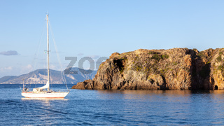 sailing boat at Lipari Islands Sicily Italy