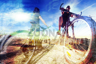 Bike lifestyle and adventures.Sport background