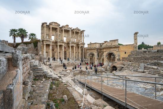 The Library of Celsus in Ephesus Selcuk, Izmir province Turkey
