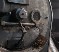 Coffee beans cooking during the roasting