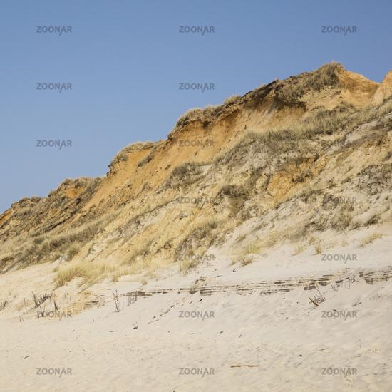 Steep coast red cliff