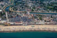 Santa Cruz Beach Aerial View
