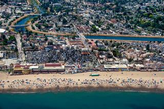 Santa Cruz Beach Aerial View