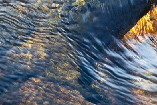 Waves in a creek, Muddus National park, world heritage Laponia, Lapland, Sweden