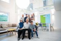 portrait of happy modern muslim family