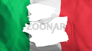 Tattered Italy flag