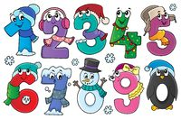 Winter numbers theme set 1