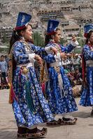Native Indians dancing on festival