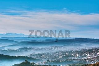 Panoramic View of Veliko Tarnovo