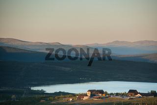 Blick auf den Rondane Nationalpark am Abend