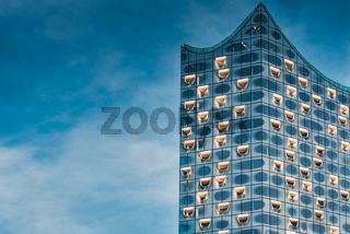 Hamburg, Germany - November 01, 2015: The New Elbphilarmonie builds one of the most impressive landmarks in Harbor City