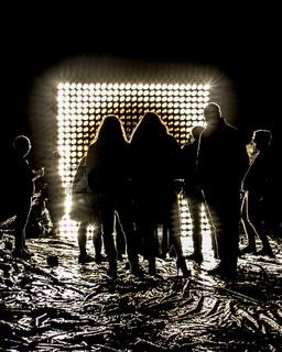 Contemporary Art Performance at Night