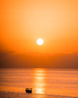 Sunrise Landscape Orange Sky Malta Ocean