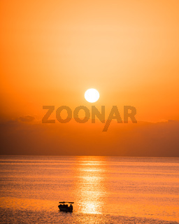 Sunrise Landscape Orange Sky Malta Ocean