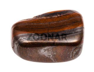 polished Jaspillite stone isolated