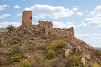 Ruins of ancient Slesa fortress on top of hill