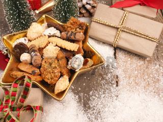 Tasty sweet homemade Christmas cookies