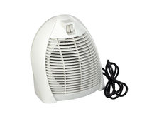 Electric air heater with fan isolated on a white background